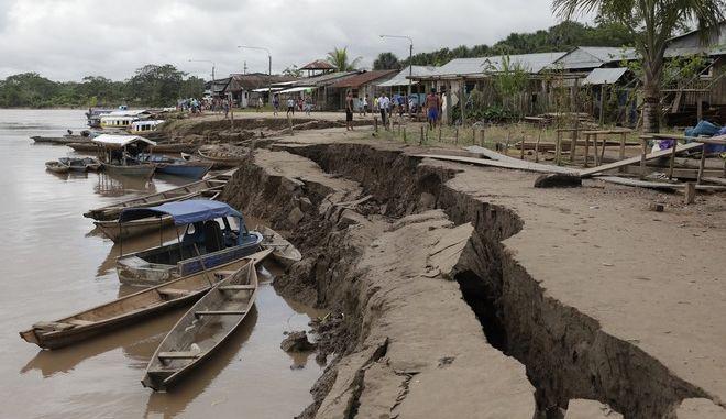 Εικόνα από περιοχή του Περού που επλήγη από τον ισχυρό σεισμό