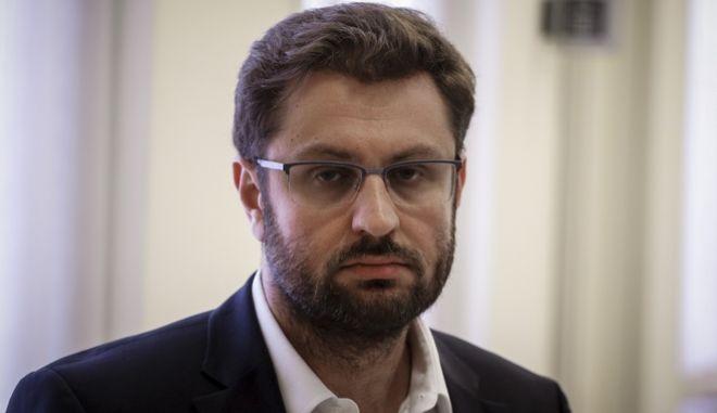 Ο διευθυντής της Κοινοβουλευτικής Ομάδας του ΣΥΡΙΖΑ, Κώστας Ζαχαριάδης. (EUROKINISSI/ΓΙΩΡΓΟΣ ΚΟΝΤΑΡΙΝΗΣ)