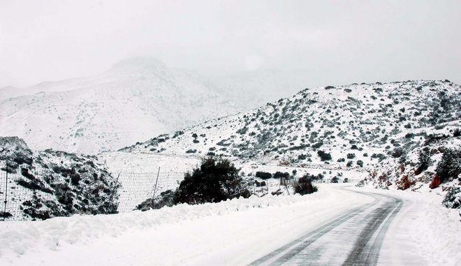 Κακοκαιρία Μήδεια - Χιόνια στο Λασίθι