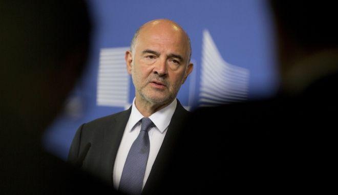 Ο Επίτροπος Οικονομικών της Κομισιόν, Πιέρ Μοσκοβισί