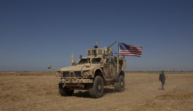 Στρατιωτικό όχημα των ΗΠΑ στη Συρία