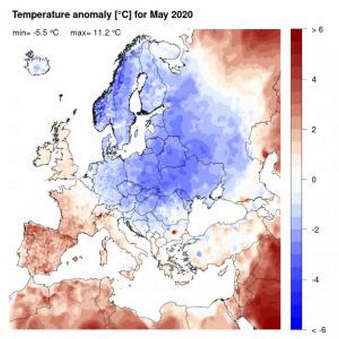 Θερμοκρασία: Πώς κύλησε ο Μάιος 2020 στην Ευρώπη και στην Ελλάδα