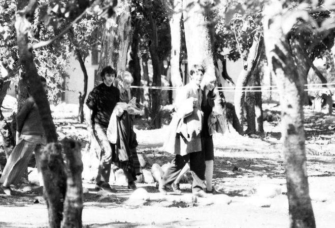 Τα μέλη των Beatles με τις συντρόφους τους στην Ινδία. 1968.