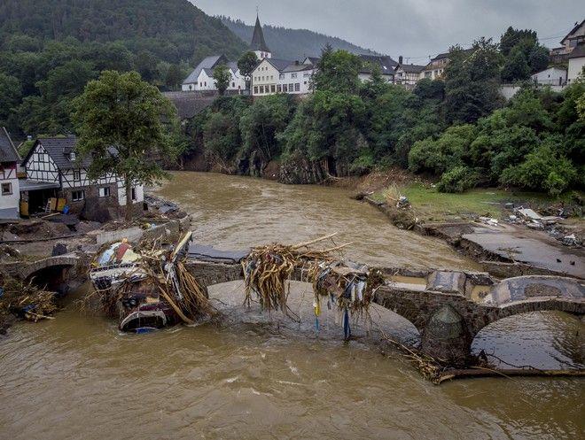 Καταστροφές στη Γερμανία από τις πλημμύρες