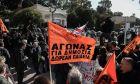 Συγκέντρωση διαμαρτυρίας μπροστά από τη Βουλή, από εκπαιδευτικούς και φοιτητές ενάντια στο νομοσχέδιο του υπουργείο Πιαδείας