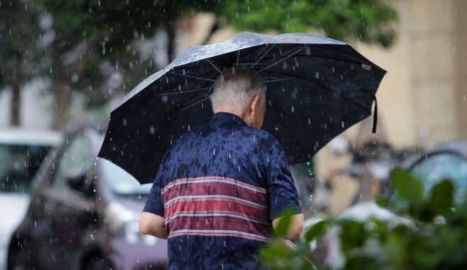 Άστατος καιρός, βροχή στην Αθήνα