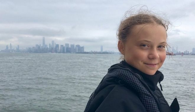Η Γκρέτα Τούνμπεργκ έφτασε στη Νέα Υόρκη
