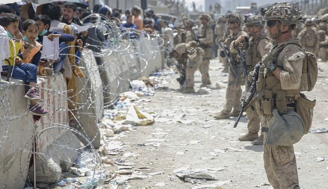 Εικόνα από το αεροδρόμιο της Καμπούλ μετά την επικράτηση των Ταλιμπάν