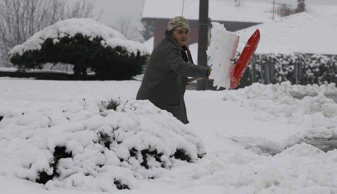Χιονιάς και στην Ιταλία