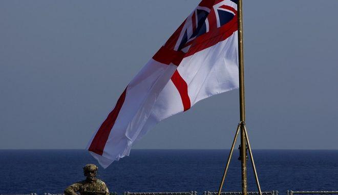 Πεζοναύτης σε πλοίο του Βρετανικού Πολεμικού Ναυτικού