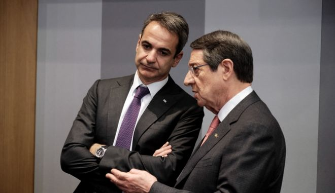 Ο Πρωθυπουργός Κυριάκος Μητσοτάκης και ο Κύπριος Πρόεδρος της Δημοκρατίας Νίκος Αναστασιάδης.