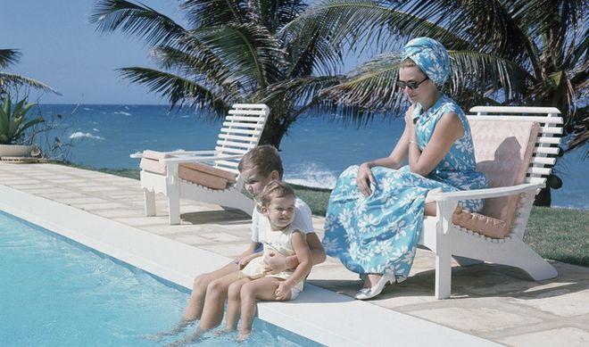 Η Γκρέις Κέλι κατά την διάρκεια των διακοπών