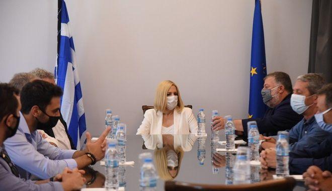 Επίσκεψη της Προέδρου του Κινήματος Αλλαγής Φώφης Γεννηματά, στις πληγείσες περιοχές της Κεφαλονιάς, το Σάββατο 3 Οκτωβρίου 2020