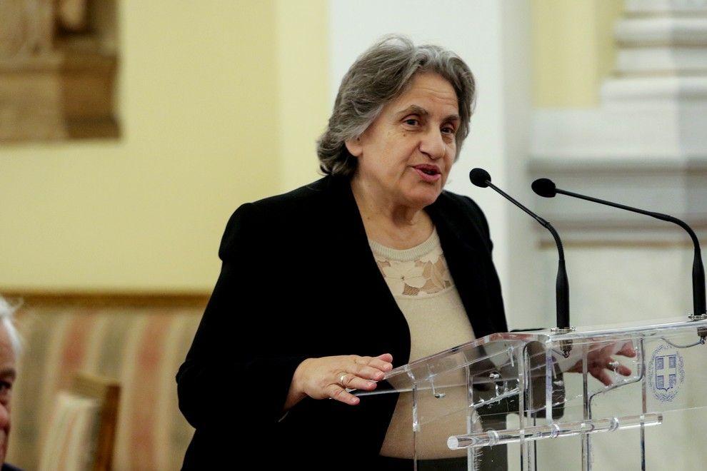 Η Ξένη Δημητρίου σε ομιλία της στο Προεδρικό Μέγαρο