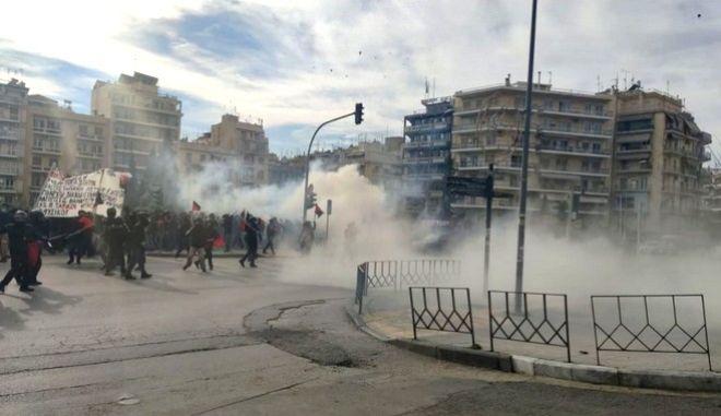 Επεισόδια στην πορεία της Θεσσαλονίκης