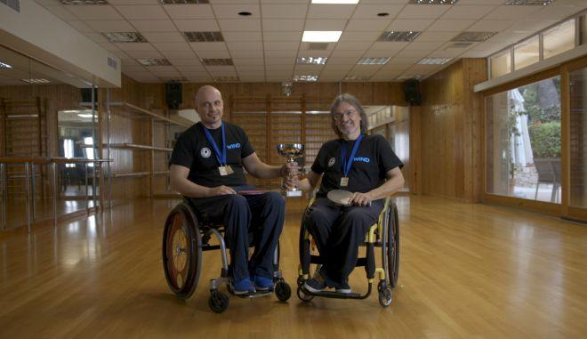 Χρυσό μετάλλιο για τους Γκίκα - Φράγκο στο Πανελλήνιο Πρωτάθλημα Επιτραπέζιας Αντισφαίρισης ΑΜεΑ