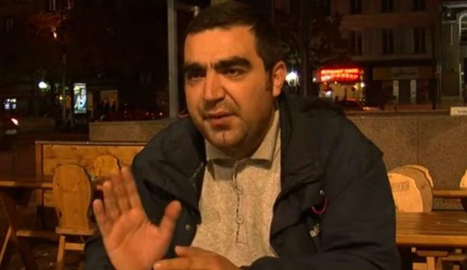 Ο δημοσιογράφος Ραχίμ Ναβανόφ που δέχτηκε ένοπλη επίθεση από αγνώστους στην Γαλλία