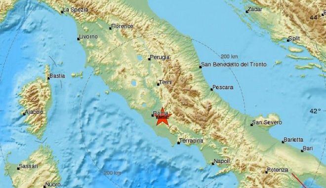 Ιταλία: Σεισμός 3,7 Ρίχτερ κοντά στη Ρώμη