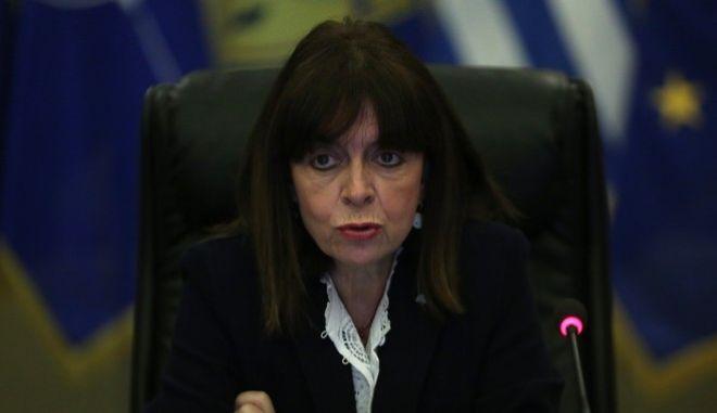 Η πρόεδρος της Δημοκρατίας, Κατερίνα Σακελλαροπούλου (EUROKINISSI/POOL ΑΠΕ ΜΠΕ/ΟΡΕΣΤΗΣ ΠΑΝΑΓΙΩΤΟΥ)