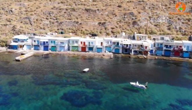 Βίντεο drone: Τα χρωματιστά σύρματα στο νησί της Αφροδίτης