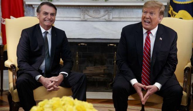 Tραμπ και Μπολσονάρο στο Λευκό Οίκο