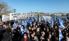 Συγκέντρωση διαμαρτυρίας στην Μυτιλήνη κατά την διάρκεια της γενικής απεργίας στο νησί, την Τετάρτη 22 Ιανουαρίου 2020.