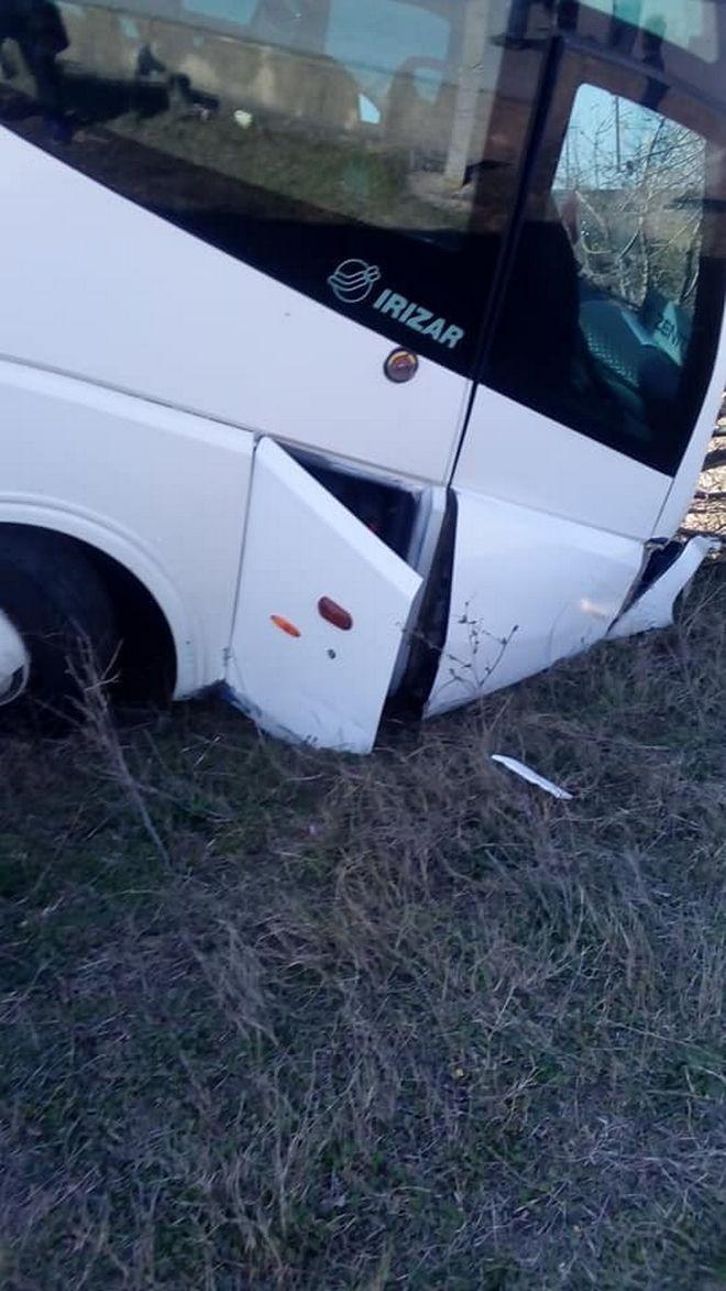 Εικόνα από το τουριστικό λεωφορείο που βγήκε εκτός δρόμου