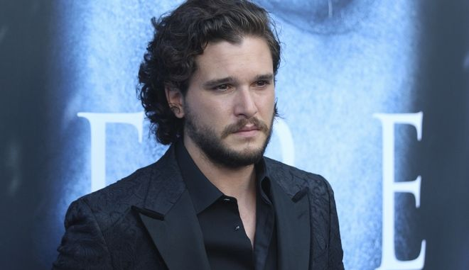"Kit Harington arrives at the LA Premiere of ""Game of Thrones"" at The Walt Disney Concert Hall on Wednesday, July 12, 2017 in Los Angeles. (Photo by Willy Sanjuan/Invision/AP)"