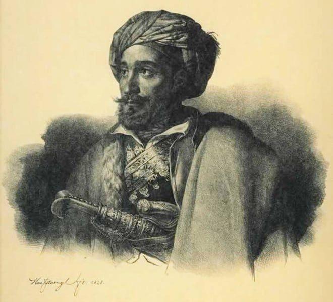 Προσωπογραφία του στρατηγού Μακρυγιάννη.