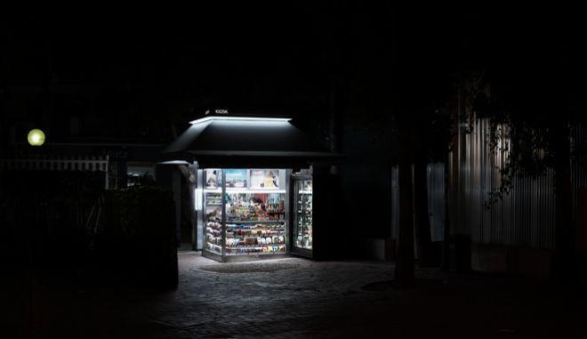 Βράδυ με lockdown στο κέντρο της Αθήνας, την Δευτέρα 9 Νοεμβρίου 2020. (EUROKINISSI/ΓΙΩΡΓΟΣ ΚΟΝΤΑΡΙΝΗΣ)