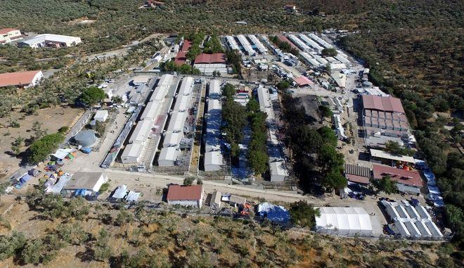 Στιγμιότυπο από το Hot Spot της Μόρια στην Μυτιλήνη μετά τα επεισόδια, την Τρίτη 20 Σεπτεμβρίου 2016.  (EUROKINISSI)