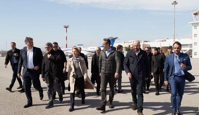 Επίσκεψη του Πρωθυπουργού Κυριάκου Μητσοτάκη στα στρατιωτικά φυλάκια των Κήπων του Έβρου