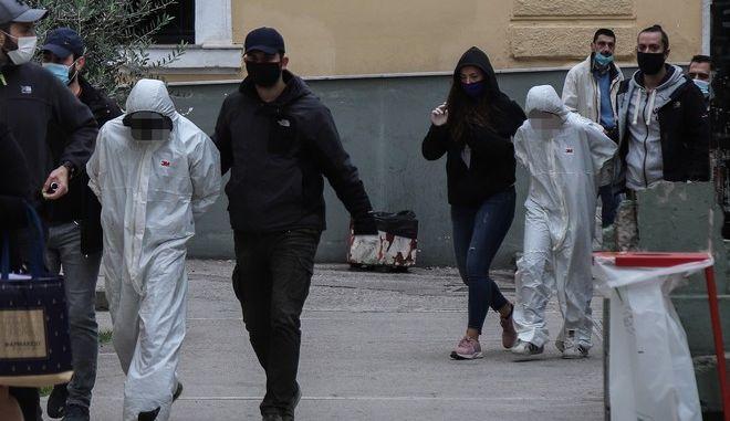 Οι δύο από τους τρεις κατηγορούμενους για τη δολοφονία της 50χρονης στην Αγία Βαρβάρα