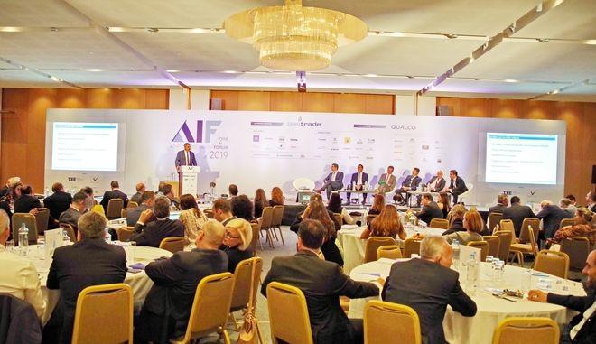 """Ο Ανδρέας Σιάμισιης στο βήμα του 2ου Στρατηγικού Συνεδρίου """"Athens Investment Forum 2019"""""""