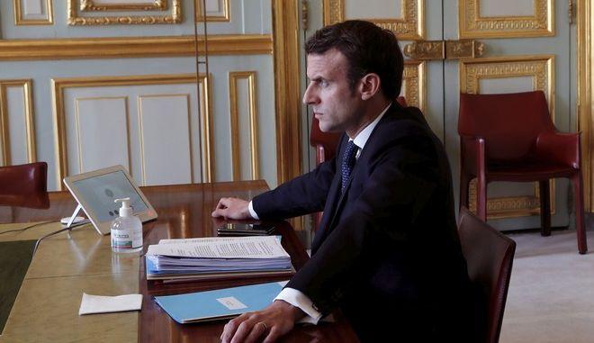 O Γάλλος πρόεδρος Εμανουέλ Μακρόν.