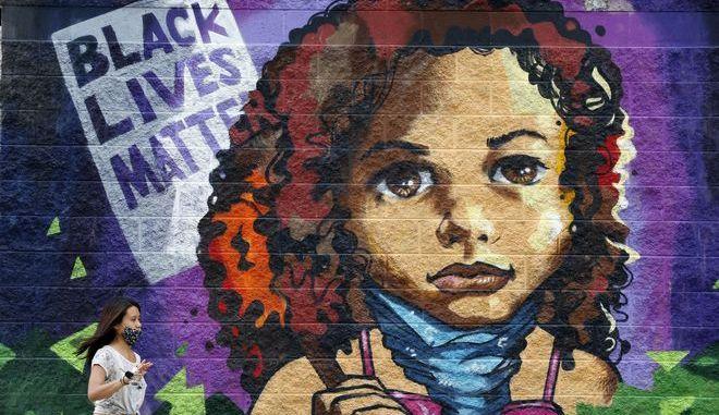Γκράφιτι μαύρης γυναίκας στις ΗΠΑ