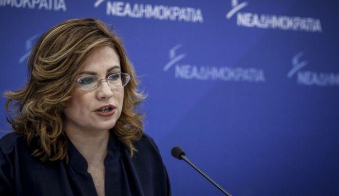 Η εκπρόσωπος Τύπου της Νέας Δημοκρατίας, Μαρία Σπυράκη