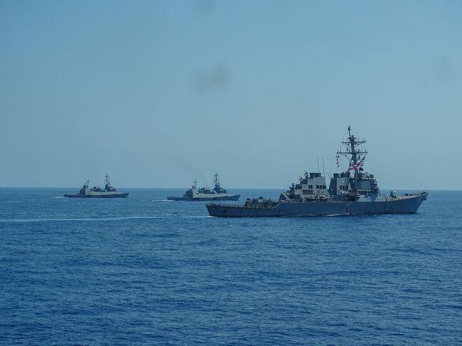 Κοινά ναυτικά γυμνάσια Ελλάδας-Ισραήλ-ΗΠΑ-Γαλλίας στη ΝΑ Μεσόγειο