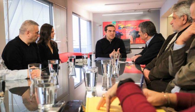Συνάντηση Αλέξη Τσίπρα με τους εκπροσώπους της Ομοσπονδίας Τραπεζοϋπαλληλικών Οργανώσεων Ελλάδας