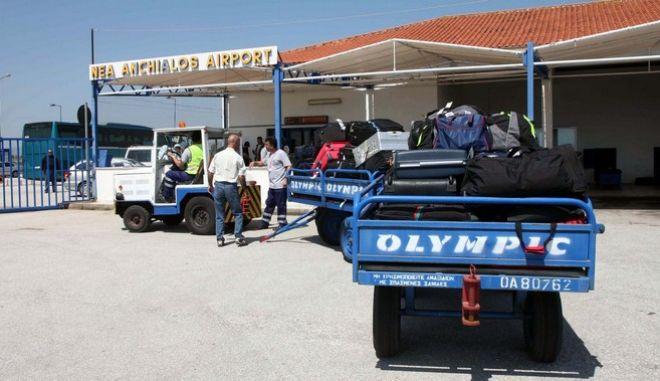 Πρώτη πτήση από την Γερμανία στο αεροδρόμιο της Νέας Αγχιάλου, σήμερα, Παρασκευή 2 Μαΐου 2008. (ΝΤΙΝΟΣ ΜΠΟΥΡΛΗΣ // EUROKINISSI)