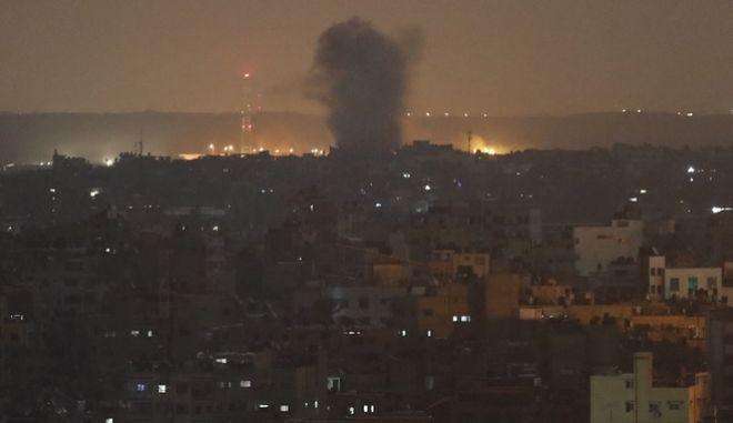 Ισραηλινό πλήγμα στη Λωρίδα της Γάζας.