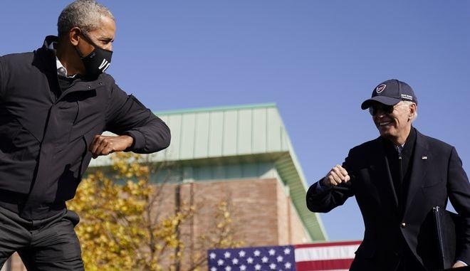 Ο Μπάρακ Ομπάμα και ο Τζο Μπάιντεν
