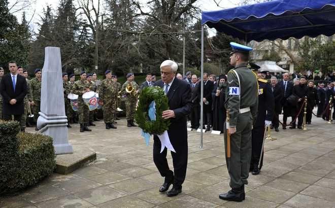 Παρουσία του Προέδρου της Δημοκρατίας Προκόπη Παυλόπουλου κορυφώθηκαν σήμερα,με την παρέλαση πολιτικών και στρατιωτικών τμημάτων, οι εκδηλώσεις για τα 105 χρόνια από την απελευθέρωση της πόλης των Ιωαννίνων, Τετάρτη 21 Φεβρουαρίου 2018 (EUROKINISSI/ΛΕΩΝΙΔΑΣ ΜΠΑΚΟΛΑΣ)