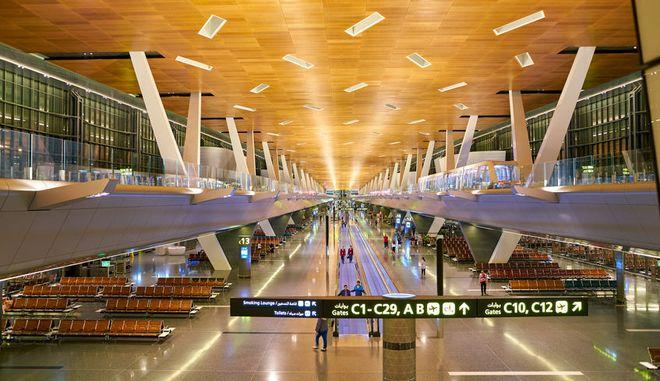 Το διεθνές αεροδρόμιο της Ντόχα στο Κατάρ.