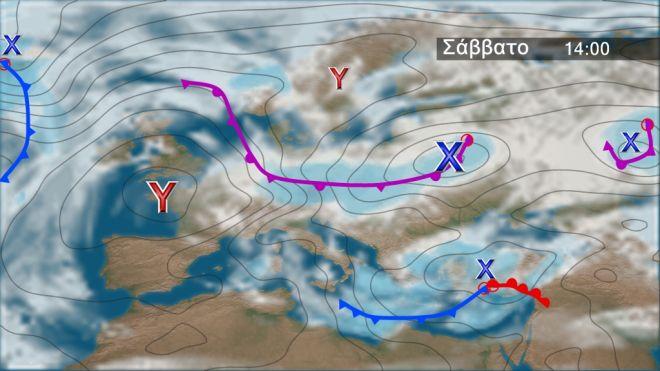 Μερική ύφεση των φαινομένων το Σάββατο – Ισχυρός παγετός στα ηπειρωτικά