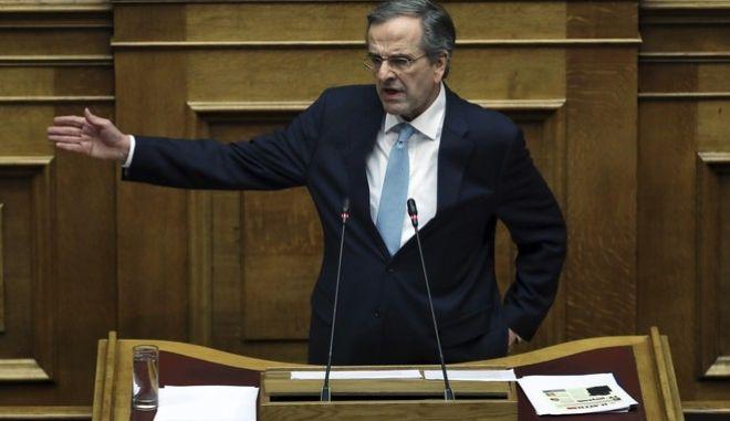 Ο πρώην πρωθυπουργός, Αντώνης Σαμαράς