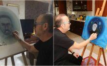 Ο Σταμάτης Γονίδης κάνει έκθεση ζωγραφικής. Αποκλειστικά καρέ