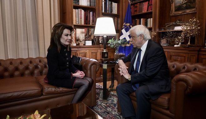 Συνάντηση του ΠτΔ Προκόπη Παυλοπουλου με την πρόεδρο της επιτροπής Ελλάδα 2021 Γιάννα Αγγελοπούλου