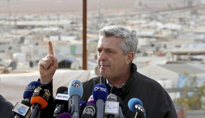 Ο επικεφαλής της Ύπατης Αρμοστείας του ΟΗΕ για τους Πρόσφυγες (HCR), Φιλίπο Γκράντι