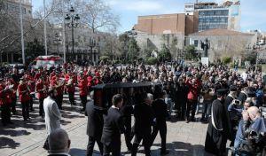 Κηδεία του ηθοποιού Κώστα Βουτσά στην Αθήνα την Παρασκευή 28 Φεβρουαρίου 2020. (EUROKINISSI/ΓΙΑΝΝΗΣ ΠΑΝΑΓΟΠΟΥΛΟΣ)